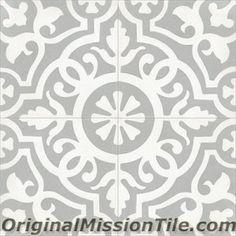 Cement Tile in Stock   Amalia II-01 8x8   Original Mission Tile