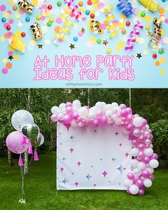 Need ideas for celebrating at home with kids? Check out this HUGE list of virtual party ideas and at home parties ideas. Diy Birthday, Birthday Parties, Birthday Ideas, Kids Party Themes, Party Ideas, Creative Thinking Skills, Fun Activities For Kids, Activity Ideas, Singing Happy Birthday