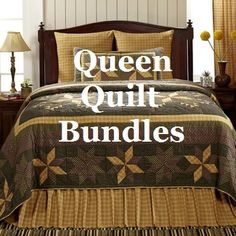 Shop for beautiful patchwork, floral, rustic and country quilted bedding sets to make your bedroom cozy. Our quilt bundles come in a range of sizes to fit your needs.