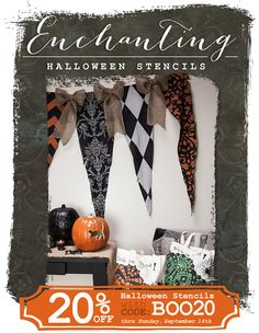 Easy and Affordable DIY Holiday & Halloween Arts & Crafts & Decorations & Gifts - Halloween Stencils & Wall Decals - Royal Design Studio