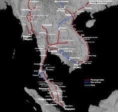 Thailand train route map