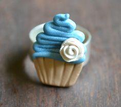 Blue Frosted Cupcake Ring by yobanda.deviantart.com on @deviantART