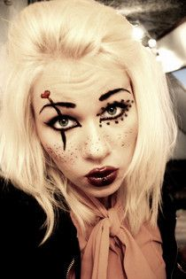 quick halloween face painting ideas make up craft projects ideas and tutorials using - Make Your Own Halloween Makeup