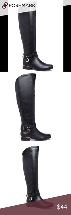 NWT Shoe Dazzle Brittanee Black Riding Boots NWT Fall 2017 Shoe Dazzle Brittanee Black Riding Boots Shoe Dazzle Shoes