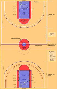 youth basketball court dimensions diagram of cellular energy for half feet is just inside the rules beginners common offensive violations