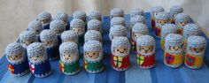 Cork & Crochet Knights by Lucyravenscar (Angry Angel), via Flickr