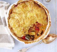 Ratatouille hotpot - Bake half of base and keep half for next pasta dish etc