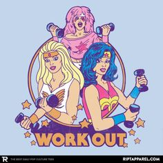 Work Out T-Shirt - Wonder Woman T-Shirt is $13 today at Ript!
