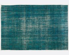 9 x 5,9 FT   270X178 cm              Vintage Turquoise handmade faded-distressed overdyed rug Free shipping (4469)