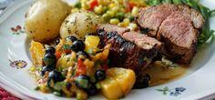 Broil King Recipe Pork Tenderloin with Grilled Peach Salsa