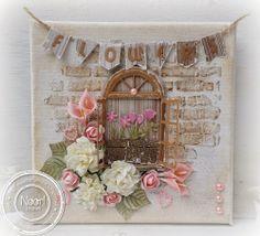 Jenine's Card Ideas: Canvas - Flowers