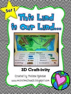 This Landforms 3D Craft-ivity focuses on 11 major landforms. (river, ocean, lake, mountain, valley, canyon, island, hill, plains, desert, and volcano).