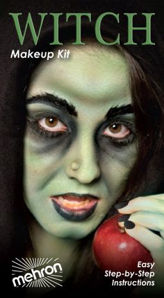 Great tutorial on doing Witch Make Up.  It's the details that make the costume.