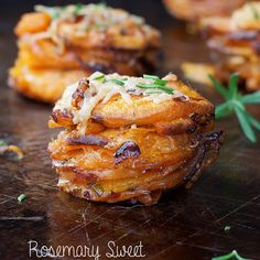 Rosemary Sweet Potato Stackers @keyingredient #cheese