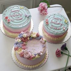 Buttercream Designs, Buttercream Decorating, Pretty Cakes, Cute Cakes, Mini Cakes, Cupcake Cakes, Debut Cake, Tooth Cake, Cake Piping