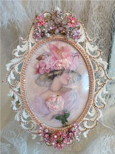 Bejeweled Bella Lady Victoria Rose 2 Special Order  From The Collection  By Debbie Del Rosario-Weiss, Juliana,brush, comb, vintage, Clock,tray, mirror, perfume, antique, vintage, victorian, Sparkle, Eisenberg, Judy Lee,