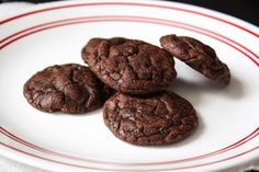 Chocolate cookies made from brownie mix