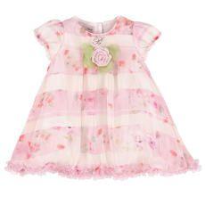 Miss Blumarine - Flower-printed silk voile dress - Light pink - 117289