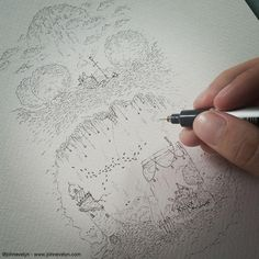 Illustrations for a book.Using my Copic 0.03mm by John Evelyn
