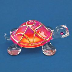 """Sunrise"" Glass Turtle"