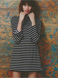 Free People Striped Cowl Dress, $168.00