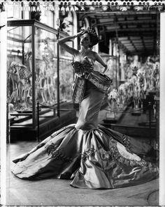 CathleenNaundorf - TheEvolution of fashion I, Diorby John Galliano,Collection Hiver 2004  Polaroid, Museum d'Histoire naturelle, Galerie d'Anatomie, Paris 2010  Hamiltons Gallery, London