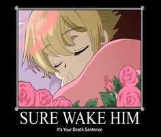 Honey-Senpai the cutest host ever!!! But if you wake him up don't say I didn't warn you, when you are in the hospital....