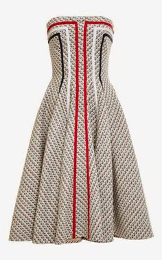 Paneled Tweed Jacquard Dress by Thom Browne - Moda Operandi I absolutely LOVE this dress. However, not for that price tag. Time to find a dupe. African Attire, African Dress, African Wear, Thom Browne, Spring Dresses, Short Dresses, Seshweshwe Dresses, Indian Dresses, Mode Glamour