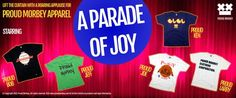A parade of joy reveals when the red curtain lifts. Starring our prime t-shirts in the spotlight. Let the show begin!
