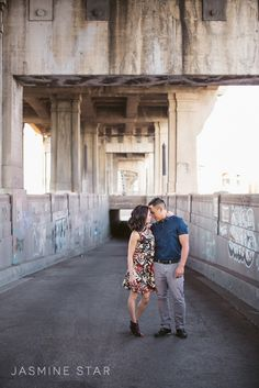 Downtown Los Angeles Engagement : Michelle and Kevin - Jasmine Star Blog