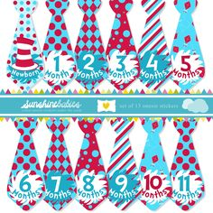 Baby Shower Gifts for Boys | ... Tie Stickers for Boys - Dr Seuss Inspired - Great Boy Baby Shower Gift