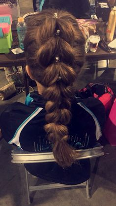 cool anime hairstyles : Cheer Competition Hairstyles Related Keywords & Suggestions - Cheer ...