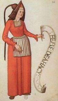 "Ahaxe. ""Habits de femmes de diverses countres"" Bibliotheque Nationale de Paris. early 16th c."