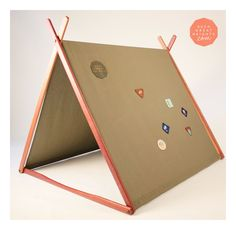 a non fall down tent - neat plus a graded door way step area - Khaki 'Wonder Tent'. $249.00, via Etsy.