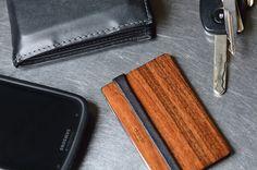 minimalist wood wallet by Dan Garfield | great gift for a guy