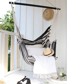 On a scale of 1 to absolutely, how badly do you want to be sitting in this hammock right now? #ParachuteStripes