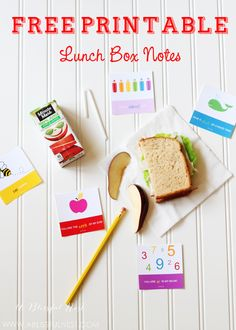 Free Printable Lunch Box Notes by A Blissful Nest. #freeprintables #backtoschool #freeprintable