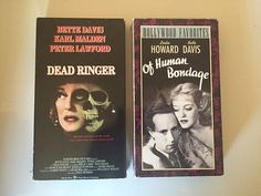 Lot of 2 Dead Ringer and Of Human Bondage  VHS by MsStreetUrchin