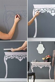 15 DIY Projects to make your home look more expensive. My whole motto is to decorate on a dime but make my home look like I spend thousands. tackle some classy DIY projects Diy Home Decor Projects, Easy Home Decor, Decor Ideas, Diy Ideas, Home Decoration, Creative Ideas, Room Decorations, Decor Crafts, Diy Crafts