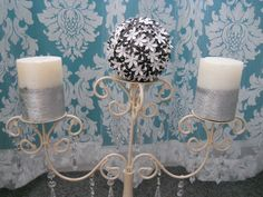 Flower PomanderPaperBlack and White by CassCouture12 on Etsy, $9.50
