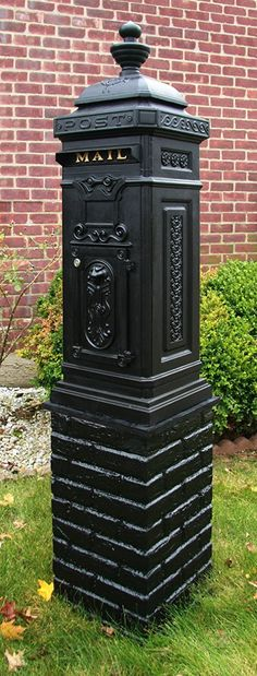 Ecco Victorian Tower Mailbox in Black E8BK, Locking with Keys - Security Mailboxes - Amazon.com