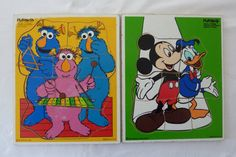 Vintage Disney and Muppets Puzzle for Children's Age 2 to 5 Years - Playskool - Made in USA Puzzle Toys, Vintage Disney, 5 Years, Puzzles, Usa, Comics, Games, Handmade Gifts, How To Make