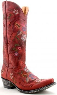 Womens Old Gringo Bonnie Vesuvio Boots Red #L649-3 via @Allens Boots