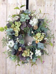 Spring Wreaths, Summer Wreaths, Front Door Wreath, Year Round Wreath.