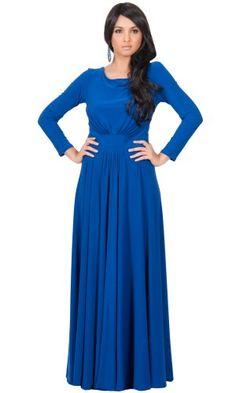 Koh Koh Women's Designer Round Neck Long Sleeve Maxi Dress - X-Large - Saphire Blue Koh Koh,http://www.amazon.com/dp/B00D2PPFT6/ref=cm_sw_r_pi_dp_HYN9sb05G29E0XVC