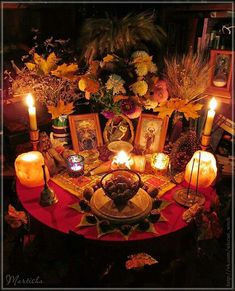 Mabon Altar - Pinned by The Mystic& Emporium on Etsy . - hexenhaus - Mabon Altar – Pinned by The Mystic& Emporium on Etsy - Mabon, Samhain, Wicca Altar, Wiccan, Magick, Witchcraft, Home Altar, Autumnal Equinox, Sabbats