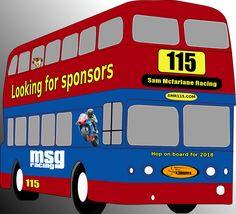 Battle bus for Sam Mcfarlane Racing Battle, Racing, Auto Racing, Lace