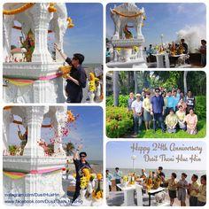 A compilation of photos from an auspicious day of Dusit Thani Hua Hin, 14th December. We are now moving on to our silvery year and a quarter of a century. Happy 24th Anniversary Dusit Thani Hua Hin!  ภาพบรรยากาศ จากการไหว้ศาลท้าวมหาพรหม ซึ่งตั้งอยู่บริเวณด้านหน้าชายทะเลของดุสิตธานี หัวหิน  เนื่องในโอกาสครบรอบ 24 ปี ของโรงแรมดุสิตธานี หัวหิน ในวันที่ 14 ธันวาคม ที่ผ่านมา  #anniversary #birthday #dusitthanihuahin #14Dec