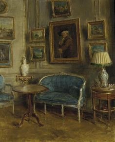 walter gay -- interior of the artist's apartment in paris -- oil on canvas -- c. 1910 -- pennsylvania academy of the fine arts