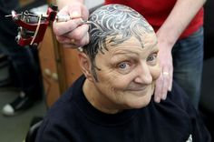 """I felt so ugly bald"": Gran who lost all her hair has flower tattoo on head"